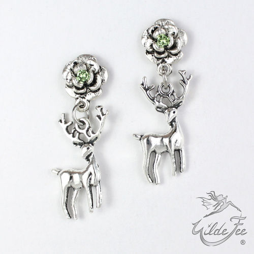 Ohrringe ROSES AND CHARMS Platzhirsch green