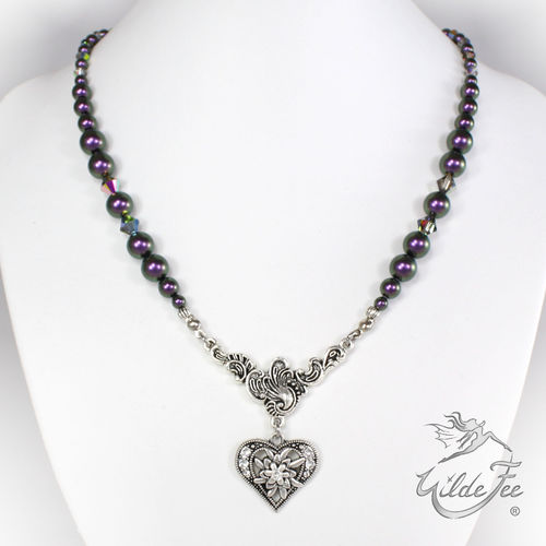 Perlentraum mit Swarovski Elements ® purple