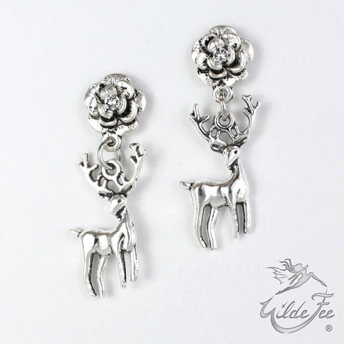 Ohrringe ROSES AND CHARMS Platzhirsch white