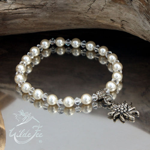 Armband Perlentraum creme Edelweiss